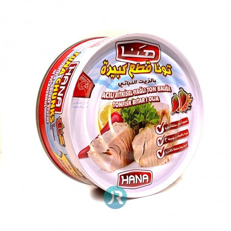 Tuna Pieces in Sunflower Oil Spicy Hana 160g
