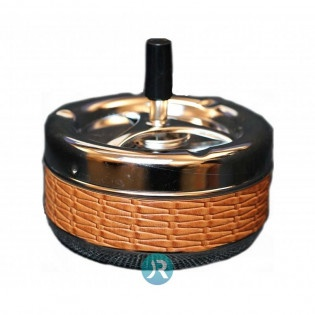 Ashtray Brown Leather Large