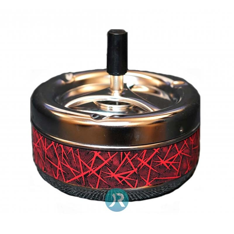 Ashtray Red Leather Large
